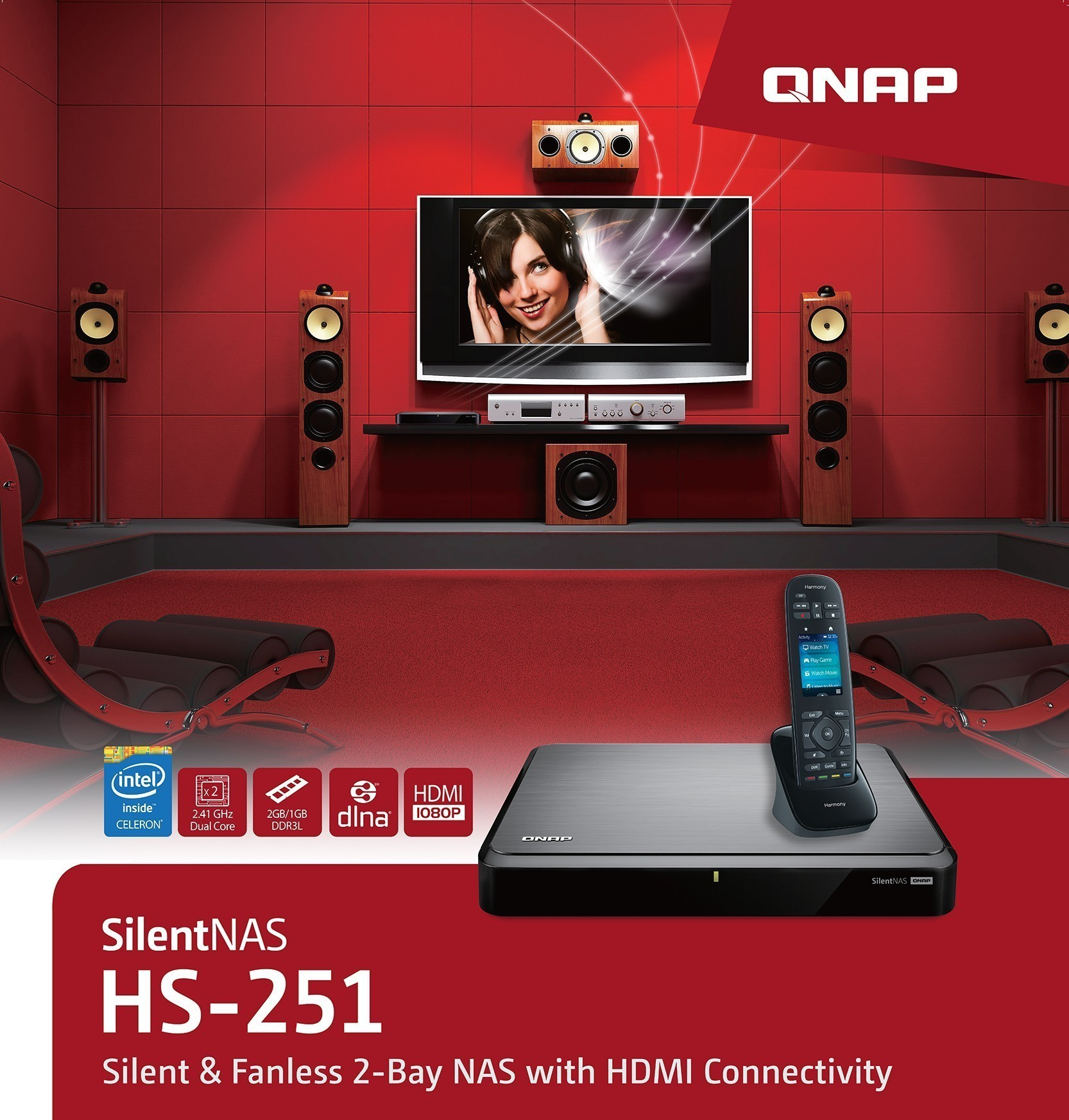 qnap_hdmi_xbmc_kodi_hd_station_and_logitech_harmony.